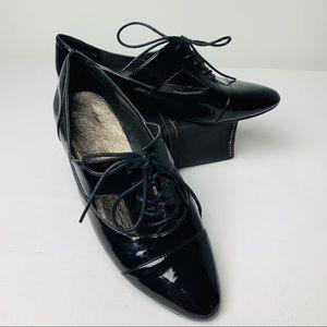 ALDO Black Goolia Patent Leather Oxford Size 9/10